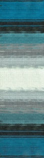 4467 м. бирюза/черн./бел.