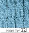 221 меланж голубой
